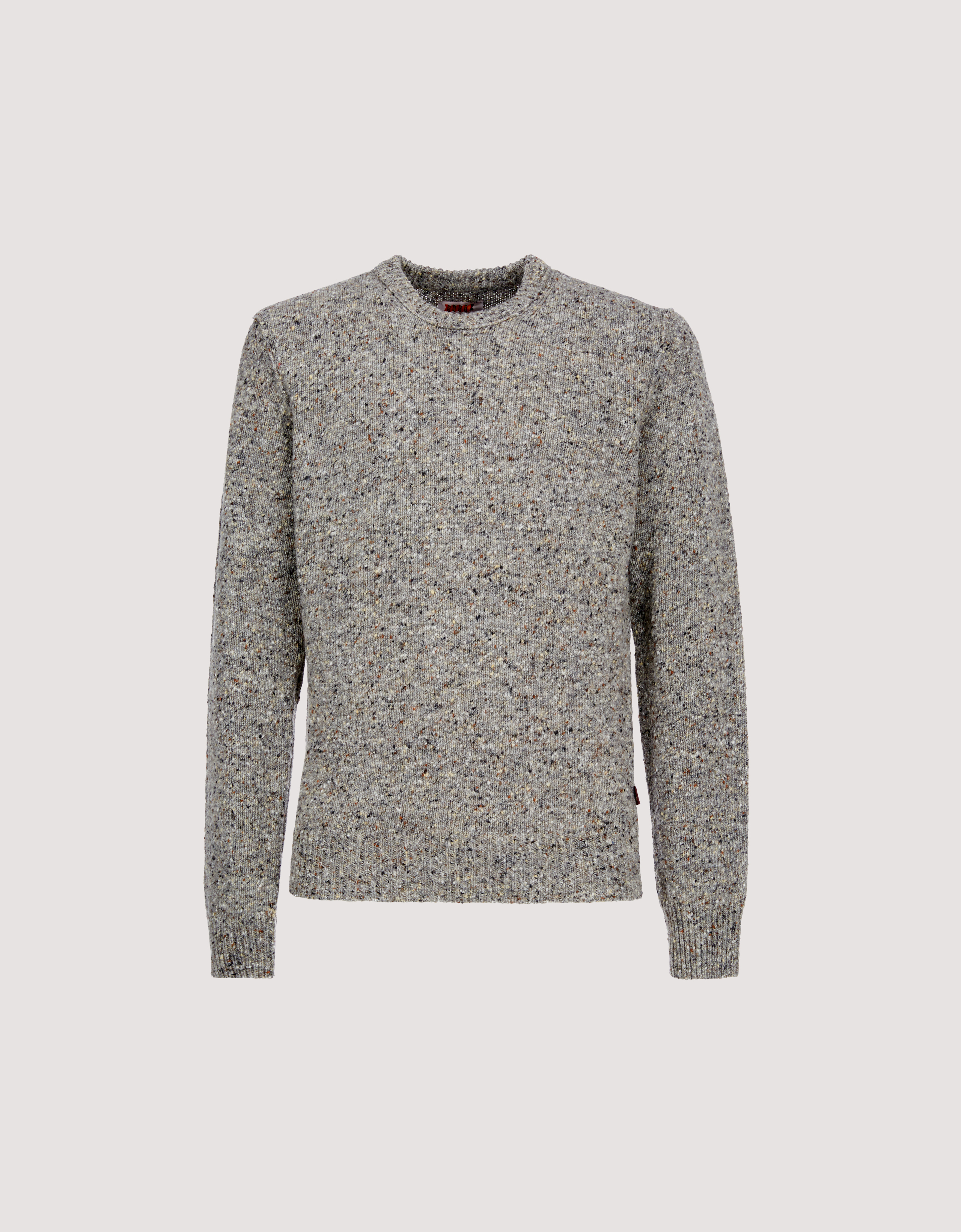 Tweed Crew Neck Sweater Baracuta