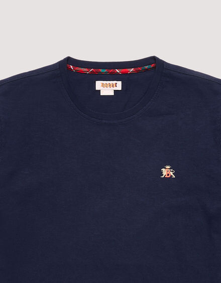 BARACUTA Small Logo T-Shirt Navy 6