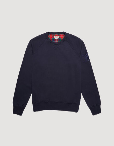 BARACUTA Summer Fleece Crewneck Ink Blue 5
