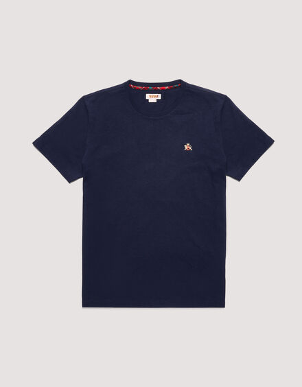 BARACUTA Small Logo T-Shirt Navy 5