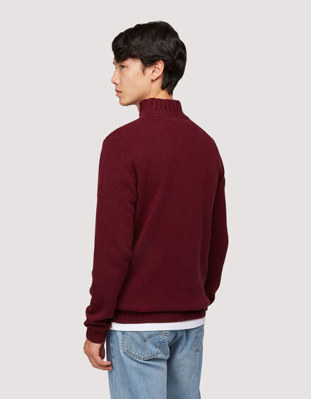 BARACUTA Eco Cashmere Chunky Mockneck Grape Wine 3