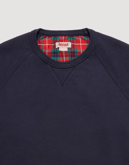 BARACUTA Summer Fleece Crewneck Ink Blue 6