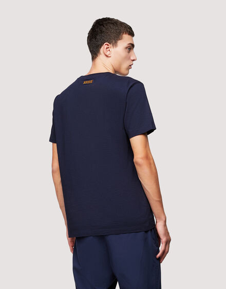 BARACUTA Small Logo T-Shirt Navy 3