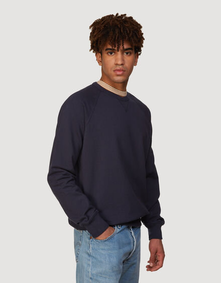 BARACUTA Summer Fleece Crewneck Ink Blue 2