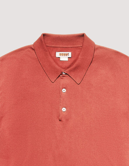 BARACUTA Ss Polo Knit Peach 6