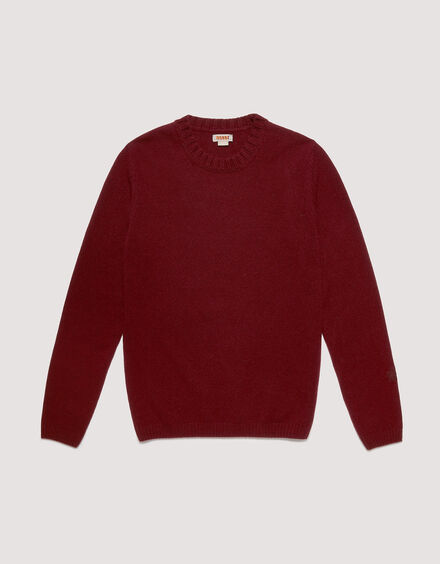 BARACUTA Eco Cashmere Chunky Sweater Grape Wine 5