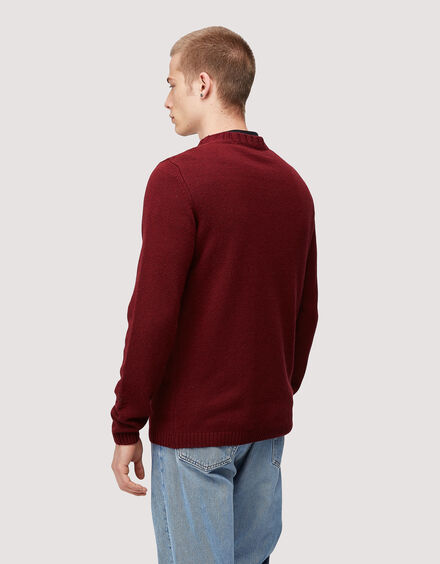 BARACUTA Eco Cashmere Chunky Sweater Grape Wine 3