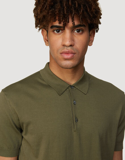 BARACUTA Ss Polo Knit Military Olive 4