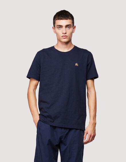 BARACUTA Small Logo T-Shirt Navy 1
