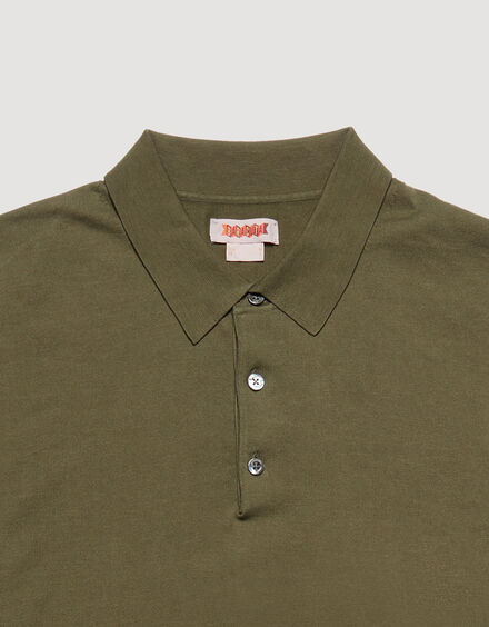 BARACUTA Ss Polo Knit Military Olive 6
