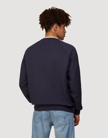 BARACUTA Summer Fleece Crewneck Ink Blue 3