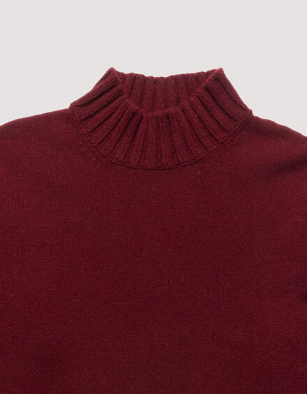 BARACUTA Eco Cashmere Chunky Mockneck Grape Wine 6