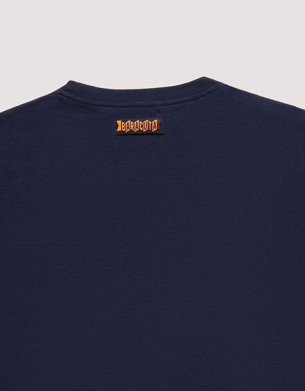 BARACUTA Small Logo T-Shirt Navy 7