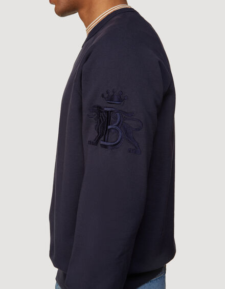 BARACUTA Summer Fleece Crewneck Ink Blue 4