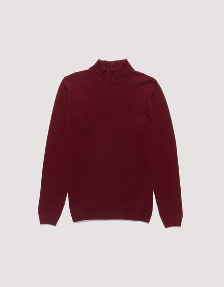 BARACUTA Eco Cashmere Chunky Mockneck Grape Wine 5