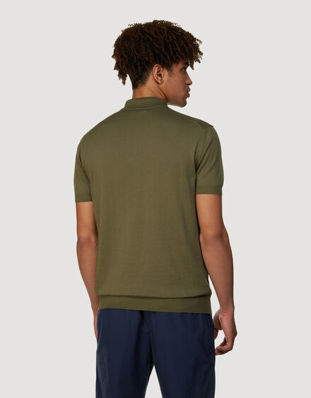 BARACUTA Ss Polo Knit Military Olive 3