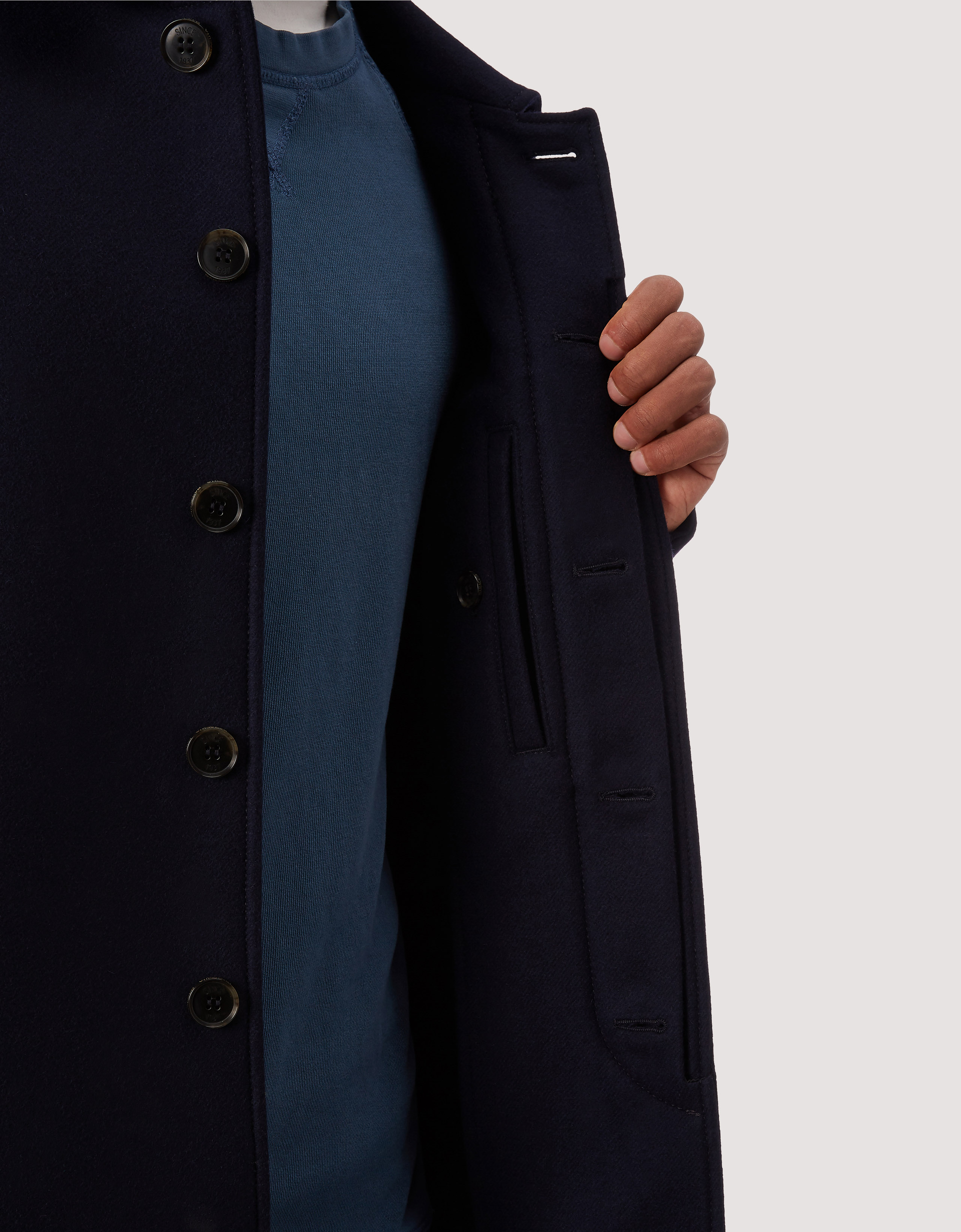 BARACUTA G10 Archive Fit Felted Neo Navy 4