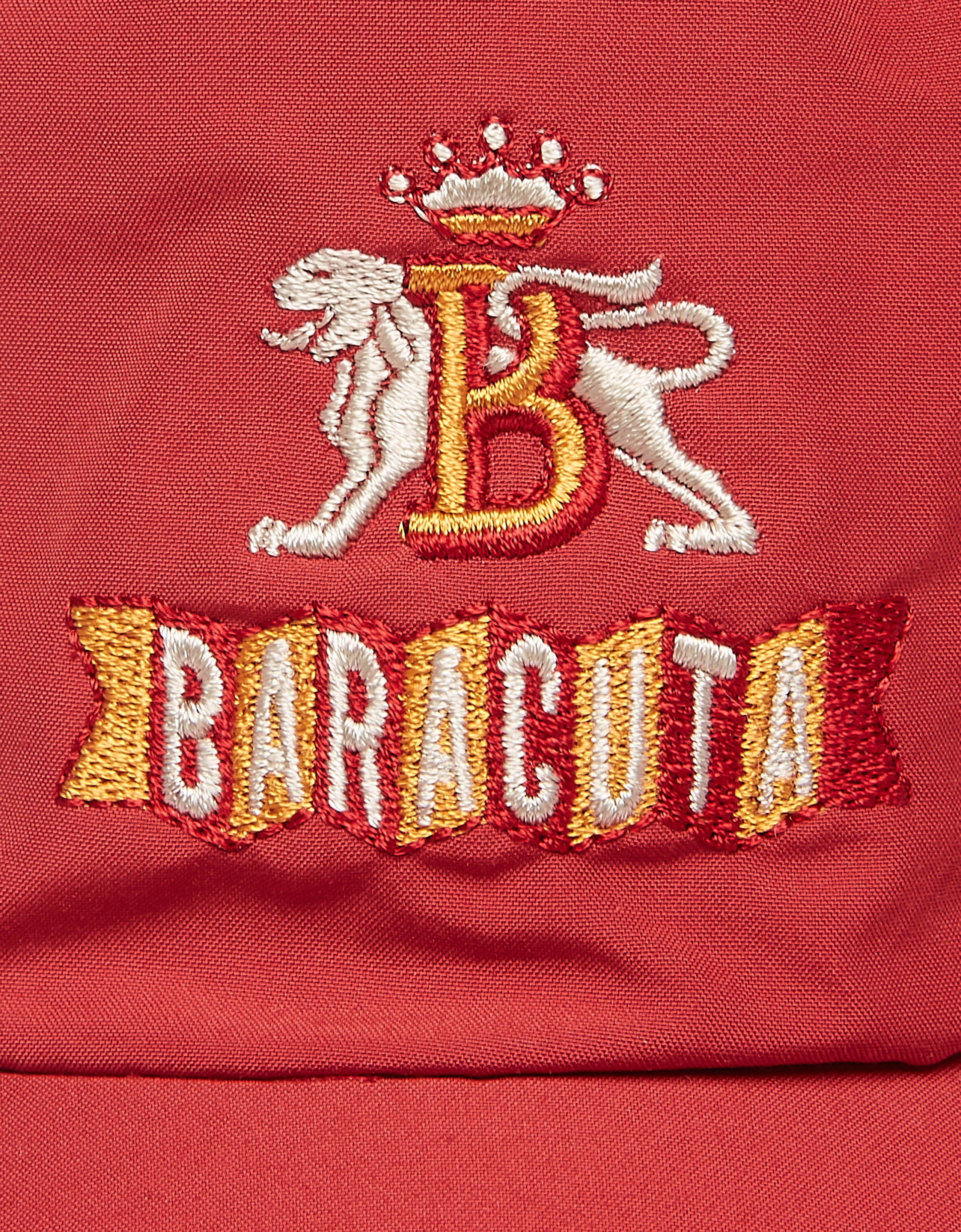 BARACUTA Baseball Hat Dark Red 2