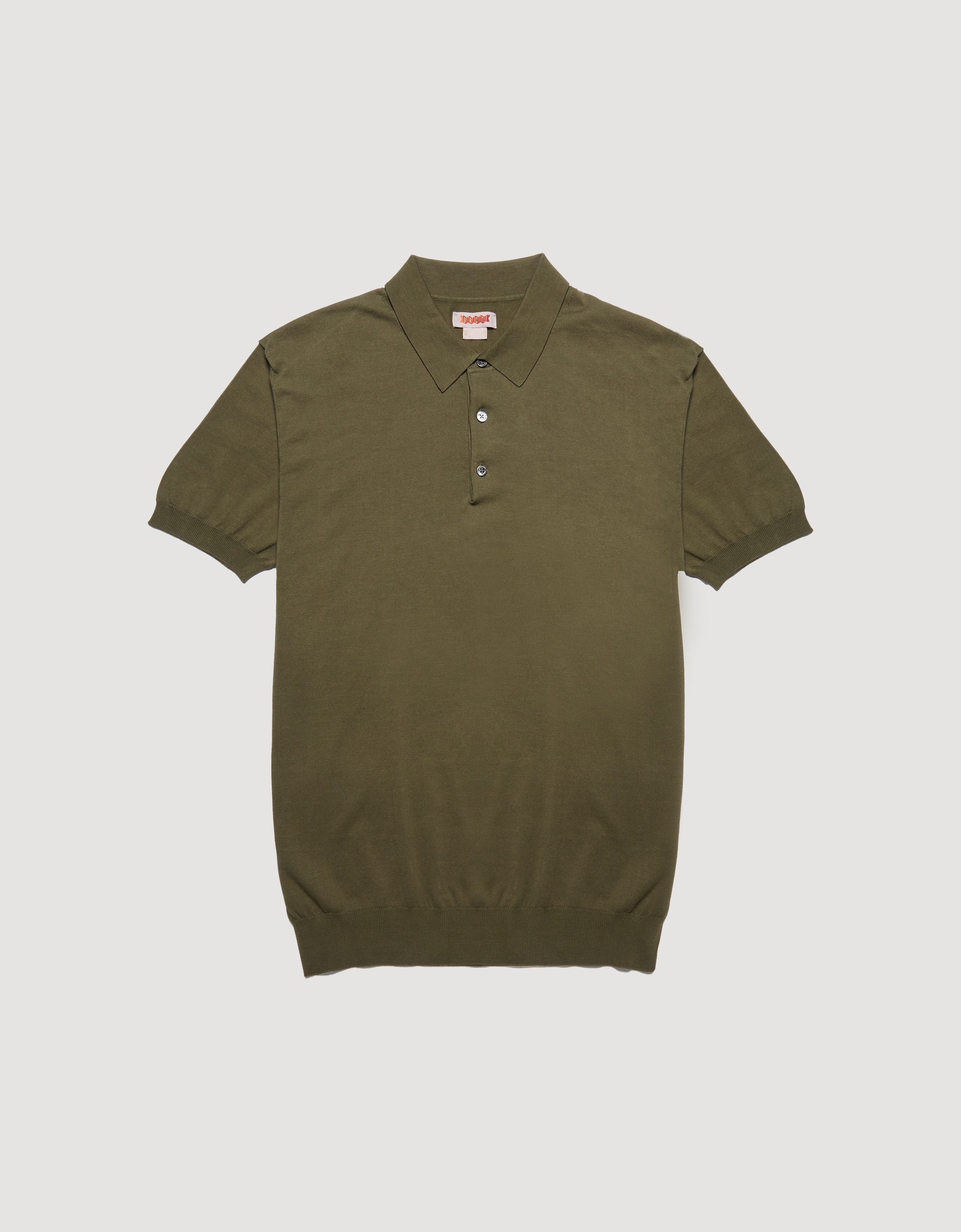 BARACUTA Ss Polo Knit Military Olive 5