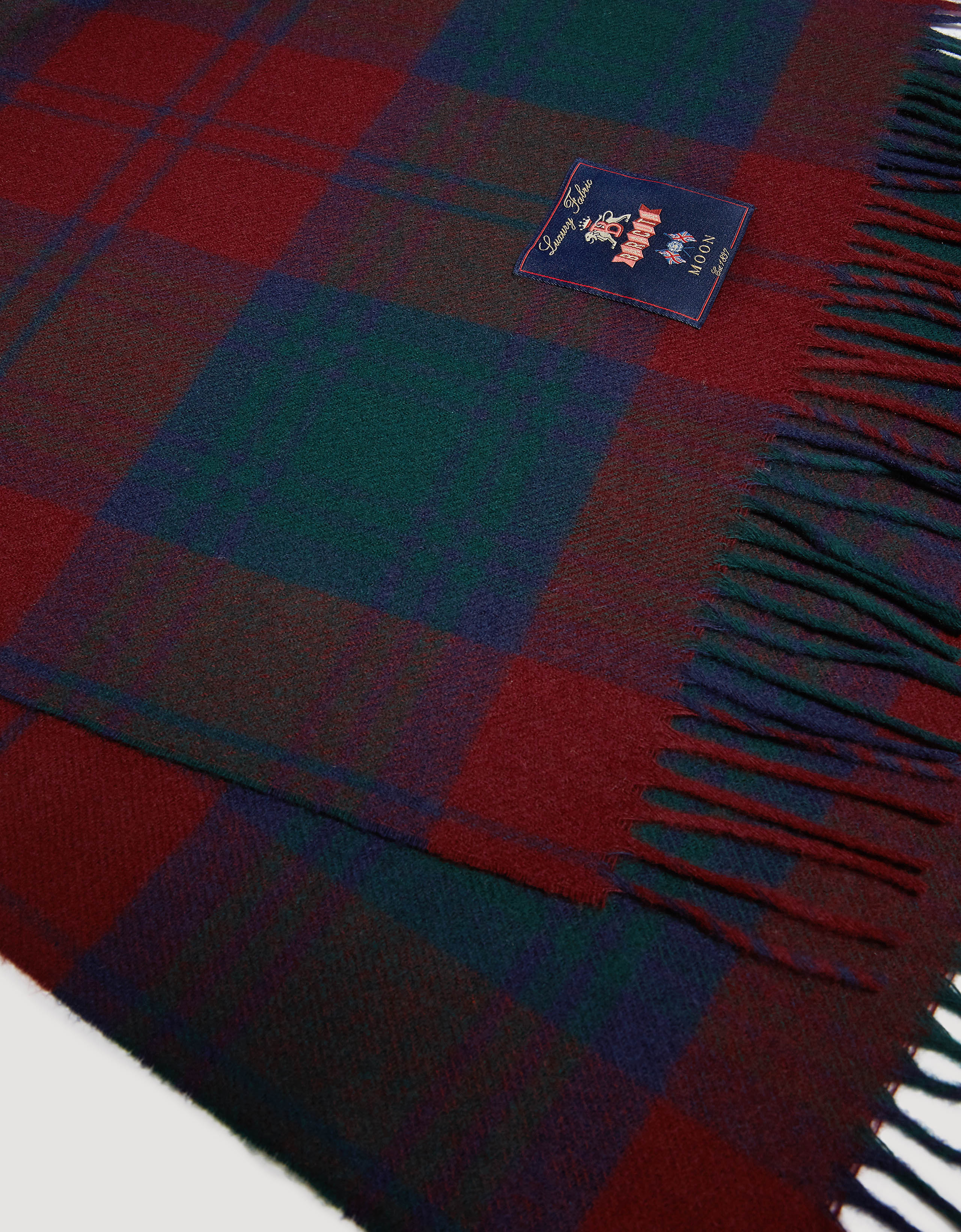 BARACUTA Check Wool Stole Check Navy /Red 3