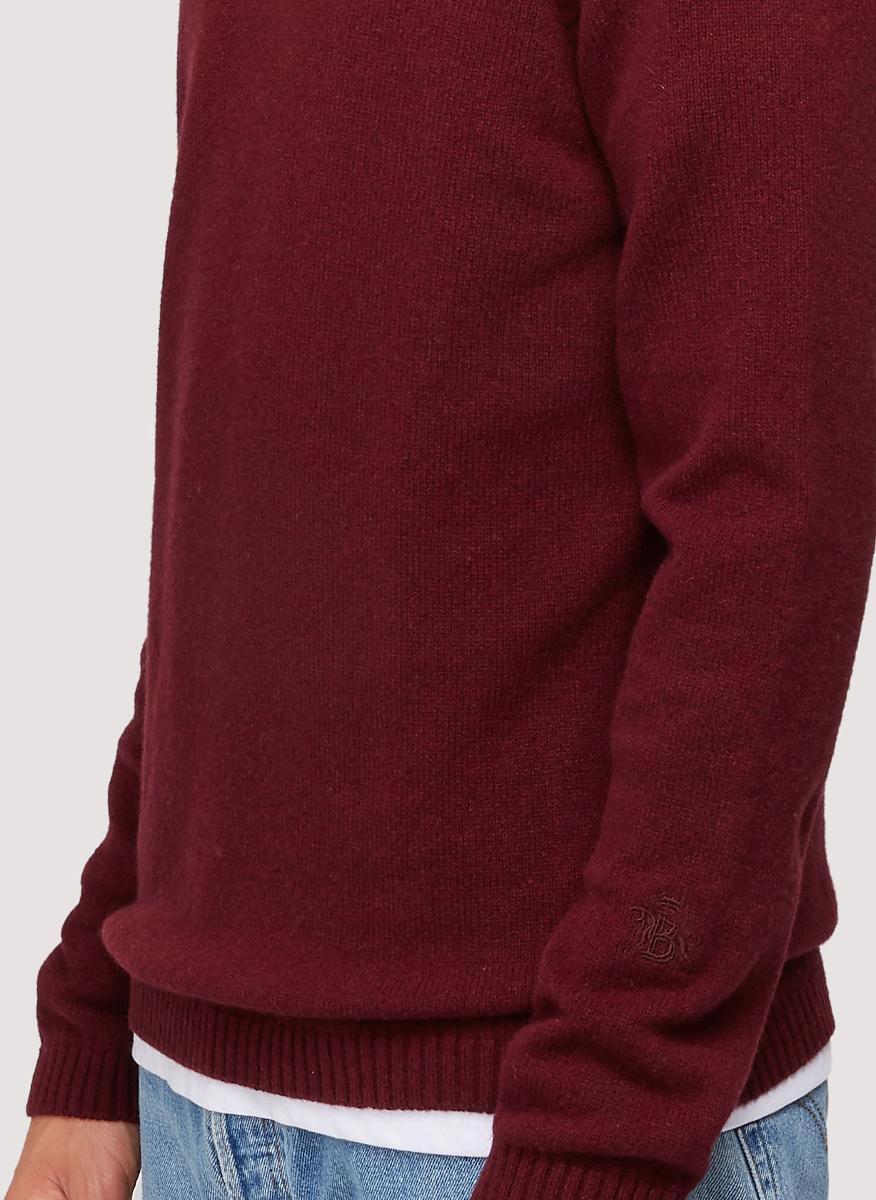 BARACUTA Eco Cashmere Chunky Mockneck Grape Wine 4